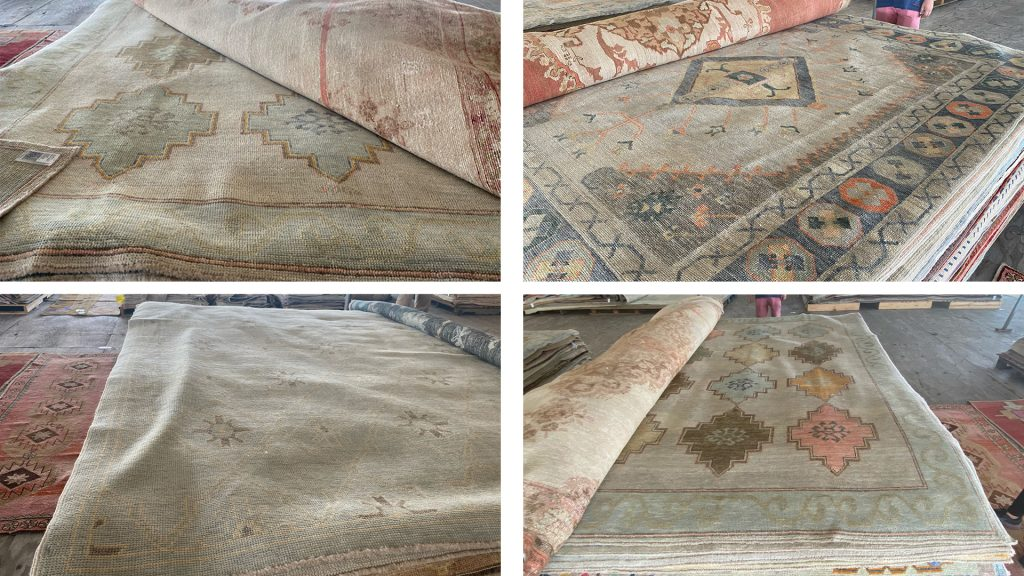 Large area rugs found at Round Top TX antique fair on Amitha Verma's Spring 2021 trip.